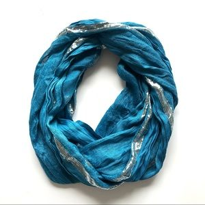 ❤️3 for $12❤️ Light Blue and Silver Infinity Scarf
